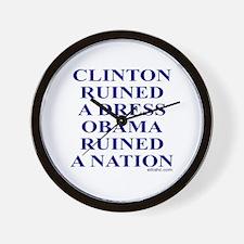 Ruined A Nation Wall Clock