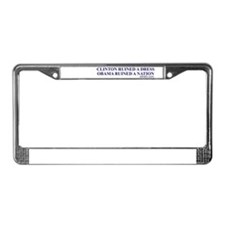Ruined A Nation License Plate Frame