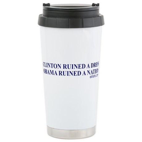 Ruined A Nation Stainless Steel Travel Mug