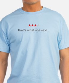 That's What She Said - Rating - T-Shirt