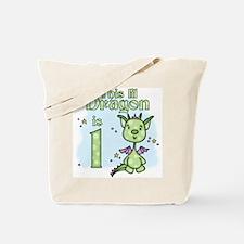 Lil Dragon First Birthday Tote Bag