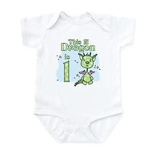 Lil Dragon First Birthday Infant Bodysuit