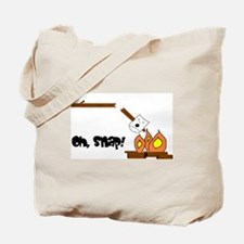 Oh Snap Roasting Marshmallow Tote Bag