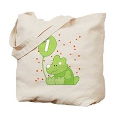 Baby Dino First Birthday Tote Bag