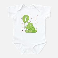 Baby Dino First Birthday Infant Bodysuit
