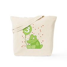 Baby Dino 3rd Birthday Tote Bag