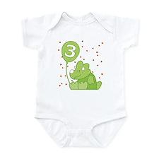 Baby Dino 3rd Birthday Infant Bodysuit