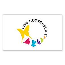 Live Butterflies Rectangle Sticker