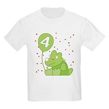 Baby Dino 4th Birthday T-Shirt