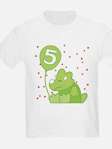 Baby Dino 5th Birthday T-Shirt