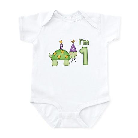 Little Turtle First Birthday Infant Bodysuit