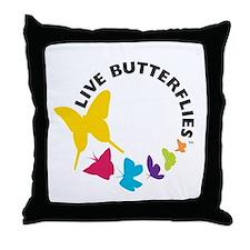 Live Butterflies Throw Pillow