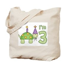 Little Turtle 3rd Birthday Tote Bag