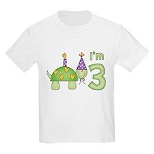 Little Turtle 3rd Birthday T-Shirt