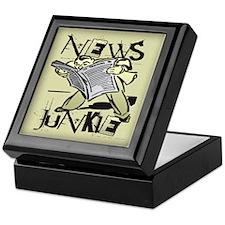 News Junkie Keepsake Box