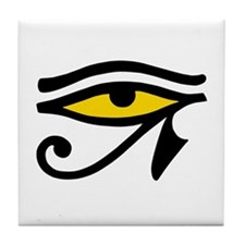 Yellow-fill Eye Tile Coaster