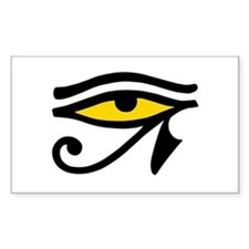 Yellow-fill Eye Rectangle Bumper Stickers