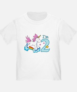Rainbow Unicorn 2nd Birthday T