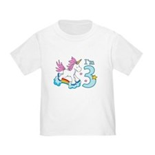 Rainbow Unicorn 3rd Birthday T
