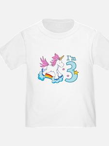 Rainbow Unicorn 3rd Birthday T