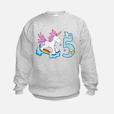 Rainbow Unicorn 5th Birthday Sweatshirt