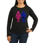 Men Vs. Women Women's Long Sleeve Dark T-Shirt