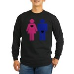 Men Vs. Women Long Sleeve Dark T-Shirt
