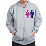 Men Vs. Women Zip Hoodie