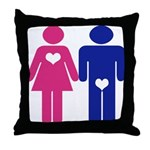Men Vs. Women Throw Pillow