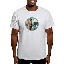 St Francis / Keeshond (#2) T-Shirt