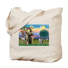 St Francis / Keeshond (#2) Tote Bag