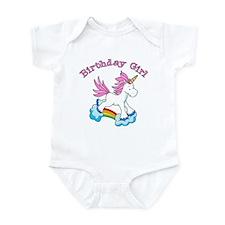Rainbow Unicorn Birthday Girl Infant Bodysuit