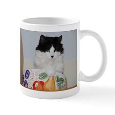 Cat in a Fruit Bowl Mug
