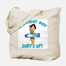 Surf's Up Birthday Boy Tote Bag
