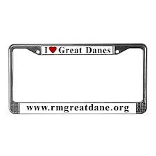 I love Great Danes License Plate Frame