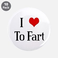 """I Heart To Fart 3.5"""" Button (10 pack)"""
