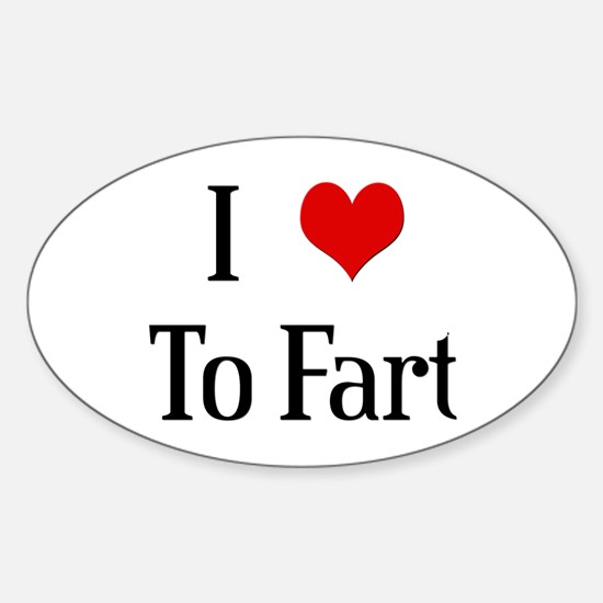 I Heart To Fart Oval Decal