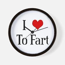 I Heart To Fart Wall Clock
