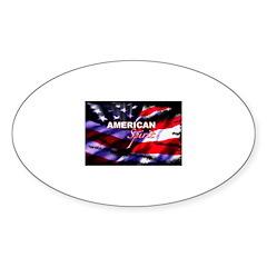 American Spirit TV Oval Decal