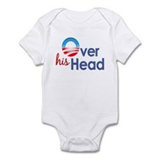 Obama Over His Head Infant Bodysuit