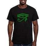 Green Eye Men's Fitted T-Shirt (dark)