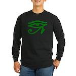 Green Eye Long Sleeve Dark T-Shirt
