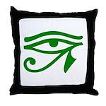 Green Eye Throw Pillow