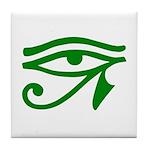 Green Eye Tile Coaster
