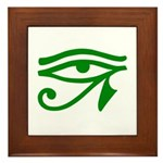 Green Eye Framed Tile