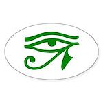 Green Eye Oval Sticker (10 pk)