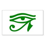 Green Eye Rectangle Sticker 10 pk)