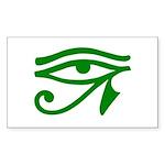 Green Eye Rectangle Sticker 50 pk)