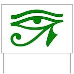 Green Eye Yard Sign