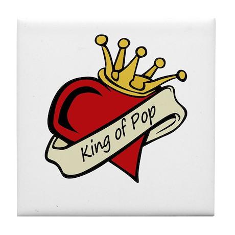 King of Pop Tile Coaster